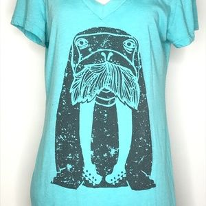 Dowdy Studio Tops - Dowdy Studio Walrus Guitar Graphic Tee A070531